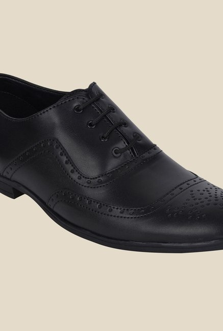 DaMochi Alson Black Brogue Shoes