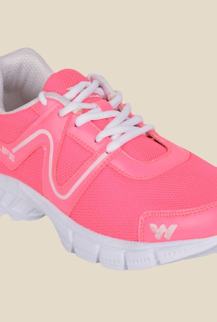 Wega Life Air Pink & White Running Shoes
