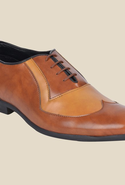 DaMochi Ascent Tan & Camel Oxford Shoes