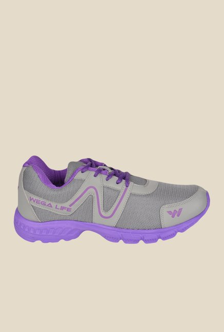 Wega Life Air Grey & Purple Running Shoes