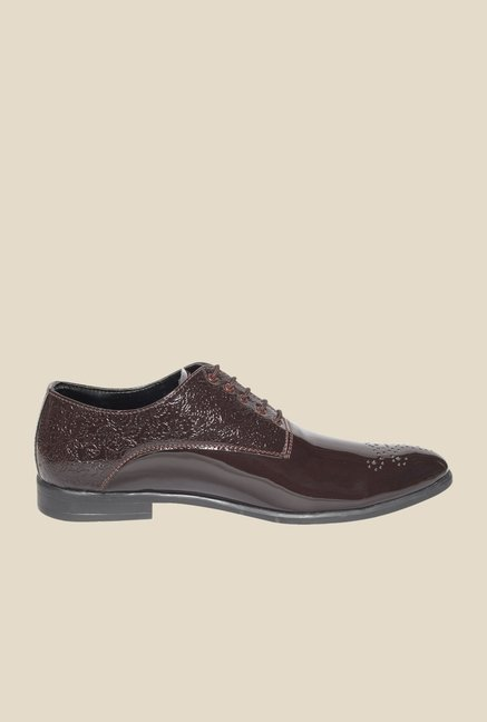 DaMochi Oslo Patent Brown Oxford Shoes