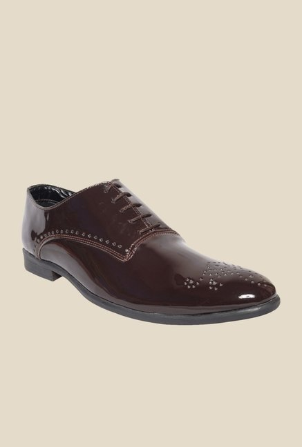 DaMochi Seoul Patent Brown Oxford Shoes
