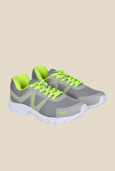 Wega Life Air Grey & Green Running Shoes