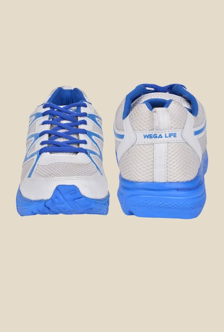 Wega Life Run White & Blue Running Shoes
