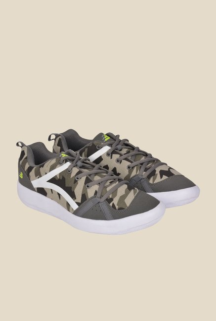 Lotus Bawa Grey & Green Running Shoes