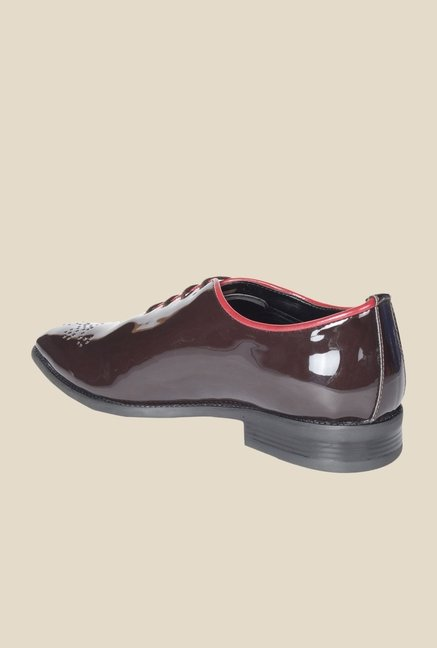 DaMochi Imper Patent Brown Formal Shoes