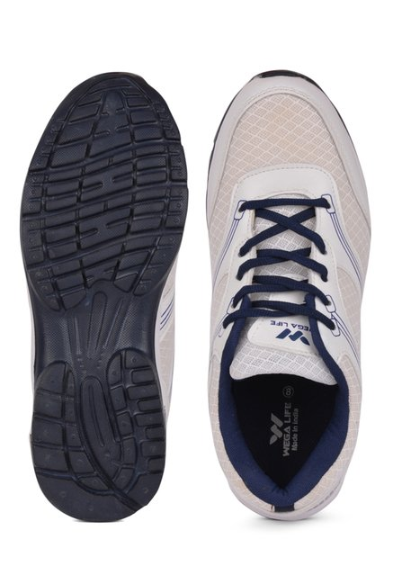 Wega Life Fader White & Navy Running Shoes