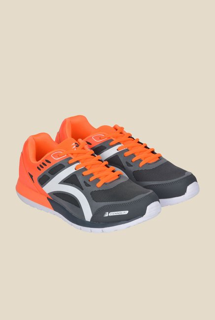 Lotus Bawa Grey & Orange Running Shoes