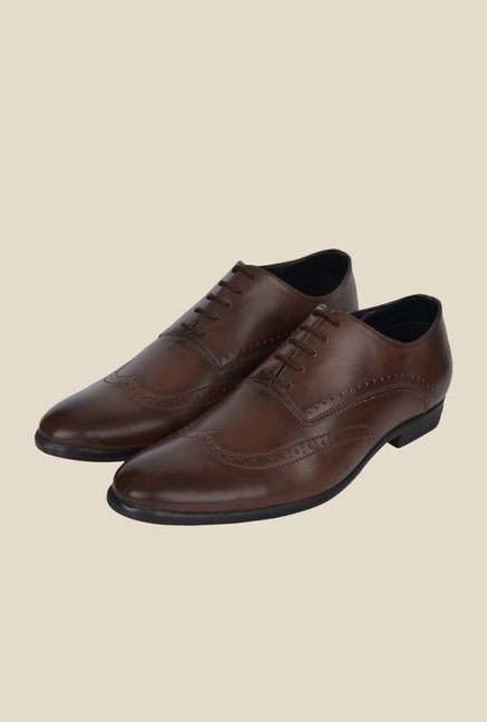 DaMochi Boris Brown Oxford Shoes