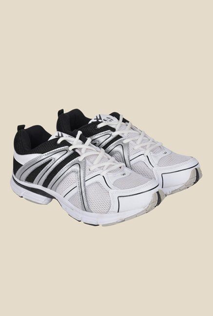 Wega Life Xplore White & Black Running Shoes