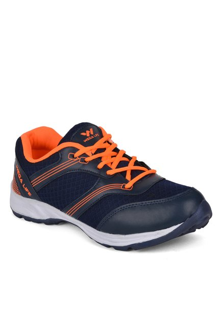Wega Life Fader Navy & Orange Running Shoes