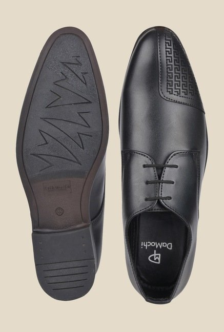 DaMochi Wurth Black Derby Shoes