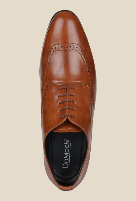 DaMochi Darwin Tan Brogue Shoes