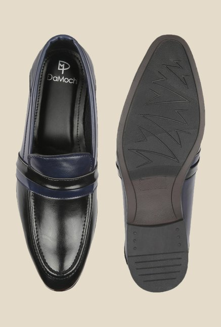 DaMochi Lagos Black & Navy Formal Slip-Ons