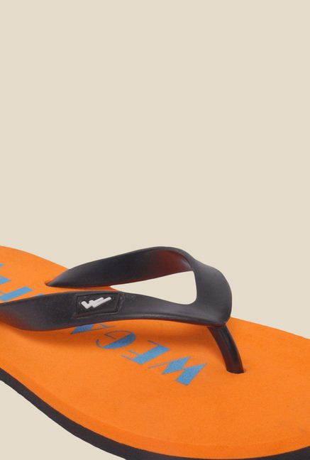 Wega Life Joy Black & Orange Flip Flops