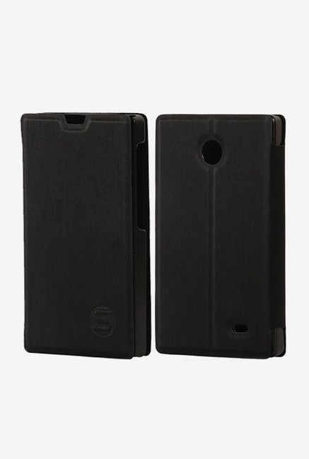 Stuffcool Flip Cover for Nokia X (Black)