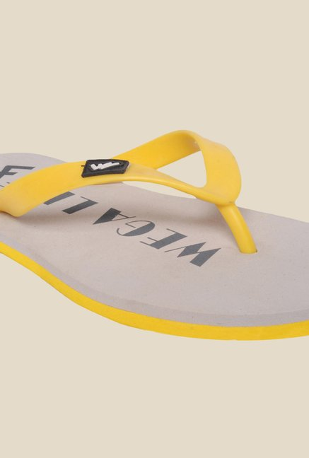 Wega Life Joy Yellow & Grey Flip Flops