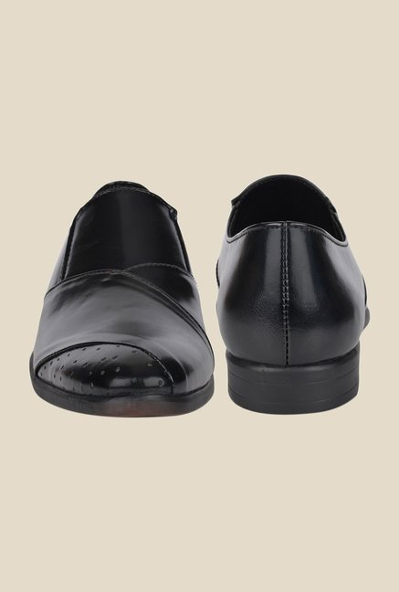 DaMochi Stahl Black Formal Slip-Ons