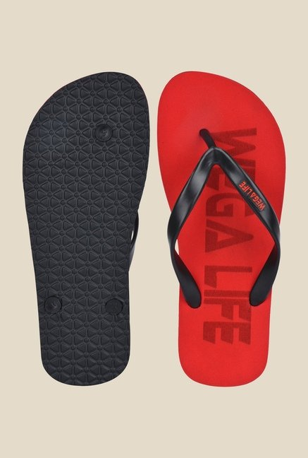 Wega Life Epic Black & Red Flip Flops