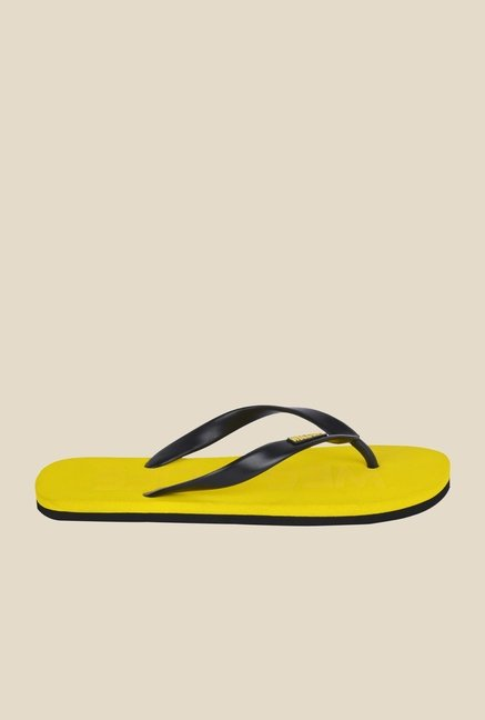 Wega Life Epic Black & Yellow Flip Flops