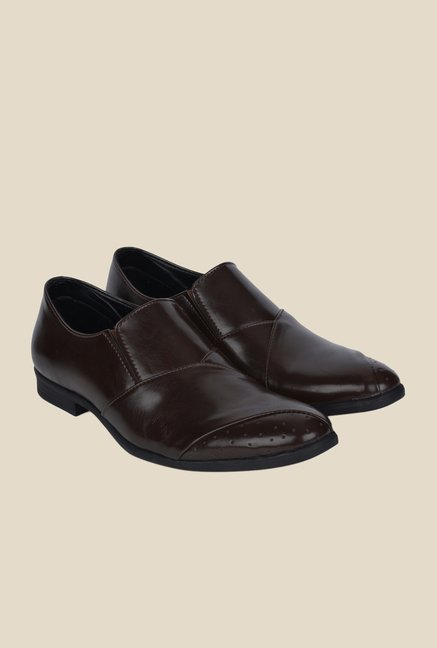 DaMochi Stahl Brown Formal Slip-Ons