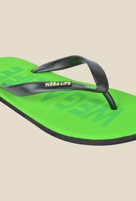Wega Life Epic Black & Green Flip Flops