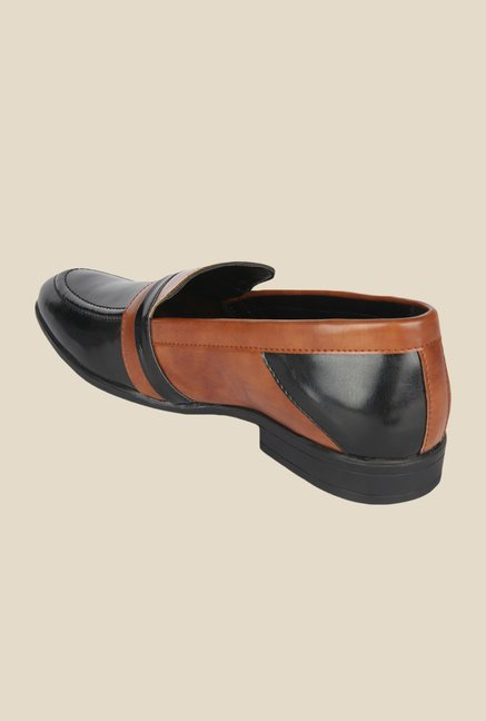 DaMochi Lagos Black & Tan Formal Slip-Ons
