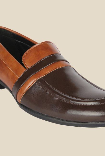 DaMochi Lagos Brown & Tan Formal Slip-Ons