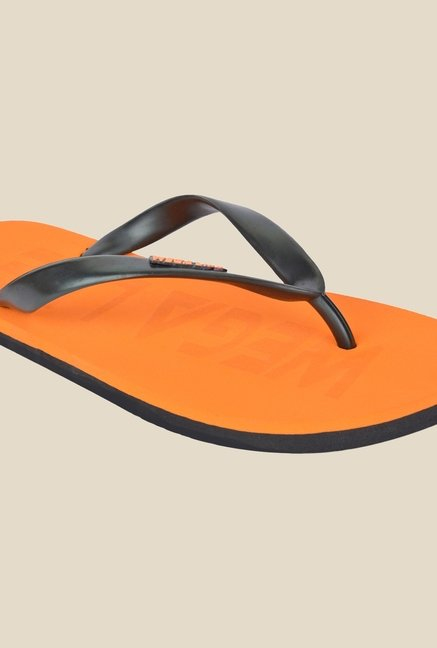 Wega Life Epic Black & Orange Flip Flops