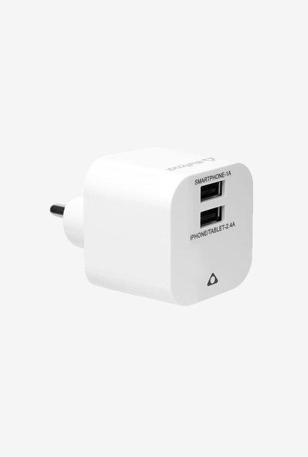 Stuffcool Summit WCSMT2 2.4 Amp Dual USB Charger (White)