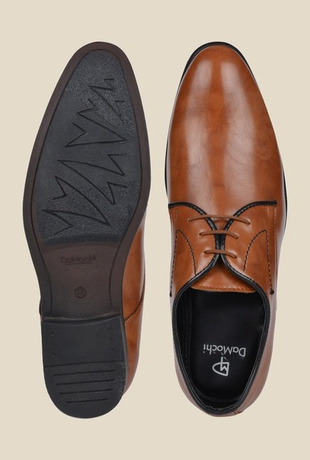 DaMochi Elixir Tan Derby Shoes