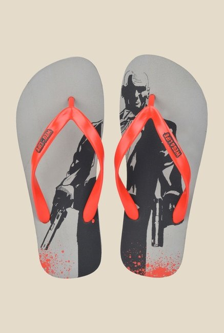 Wega Life Hitman Red & Grey Flip Flops