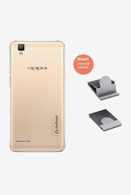 Stuffcool Clair Back Case for Oppo F1 (Clear)