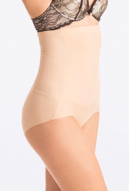Pretty Secrets Beige Seamless High Waist Shaping Brief