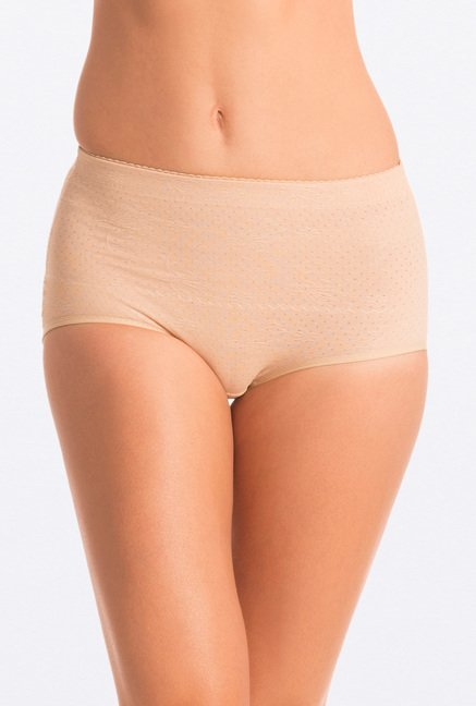 Pretty Secrets Seamless Beige Waist Line Shaping Brief