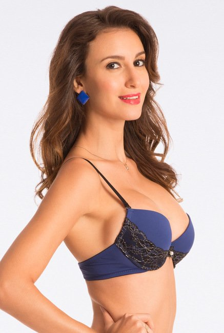 Pretty Secrets Dazzle Darling Extreme Lift Navy Push Up Bra