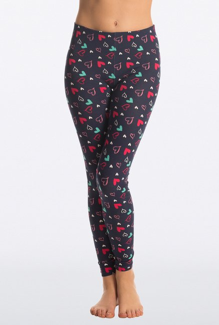 Pretty Secrets Cute Navy Heart Leggings