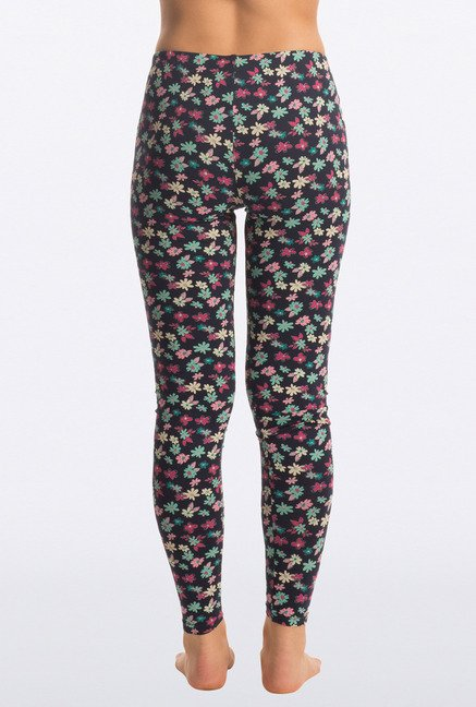 Pretty Secrets Multicolor Ditsy Floral Navy Leggings
