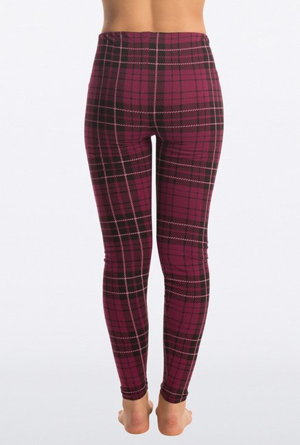 Pretty Secrets Flirty Purple Checks Leggings