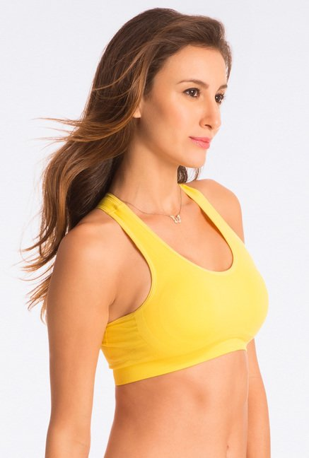 Pretty Secrets Dreamy Fit Blazing Yellow Sports Bra