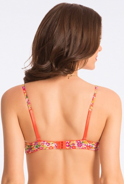 Pretty Secrets Multicolor Ditsy Floral Push Up Bra