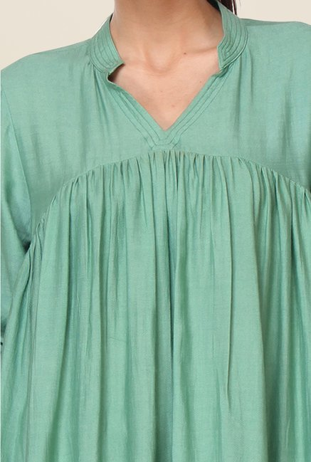 Kaaryah Green Solid Tunic