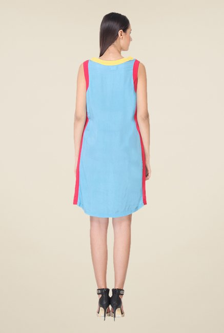 Kaaryah Blue Sleeveless Dress