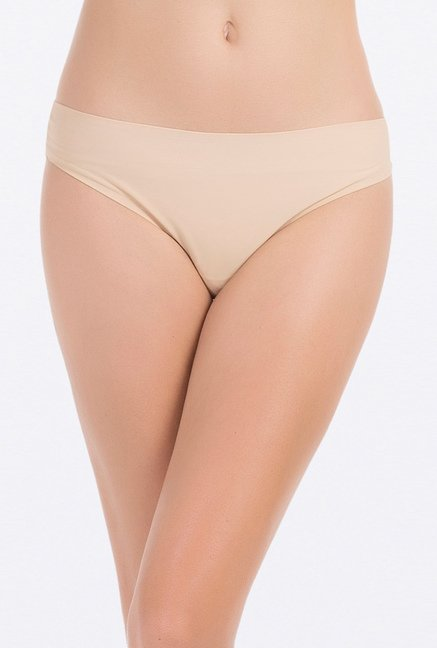 PrettySecrets Beige & Lilac Thongs (Pack of 2)