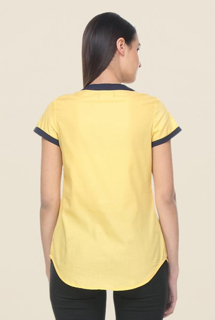 Kaaryah Yellow Solid Top