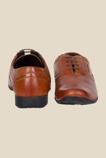 Provogue Tan Oxford Shoes