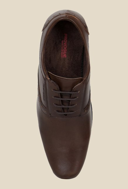 Provogue Brown Oxford Shoes