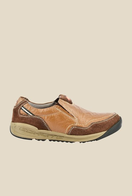 Lee Cooper Tan Casual Slip-Ons