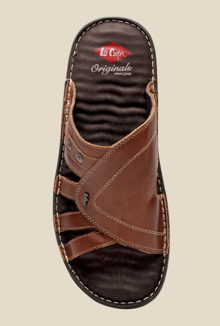 Lee Cooper Brown Casual Sandals
