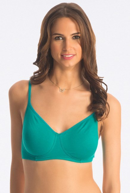 PrettySecrets Teal Green Snug Wireless Bra